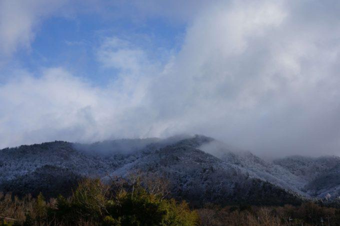 北風ふく山の風景